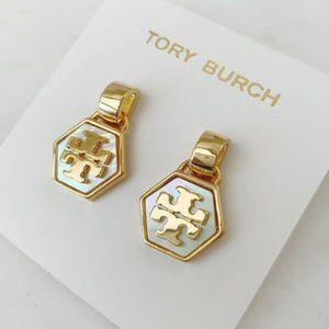 Tory Burch Mother Of Pearl Earrings